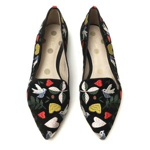 Boden Colorful Folk Embroidered Birds Loafers